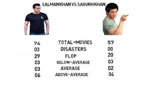 SALMAN VS SHAHRUKH comparison
