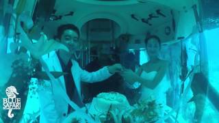 Wedding on a submarine in Mauritius