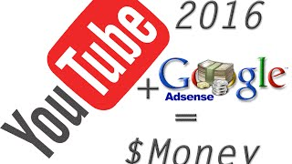 2016 New YouTube Account - Setting Up With Adsense