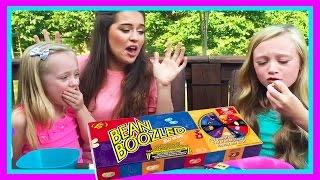 Kids Bean Boozled Food Challenge Super Gross Flavors  W/ Play Doh Girl, FUN FACTORY & Princess Ella