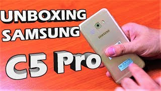 Unboxing Samsung Galaxy C5 Pro Gold 64GB