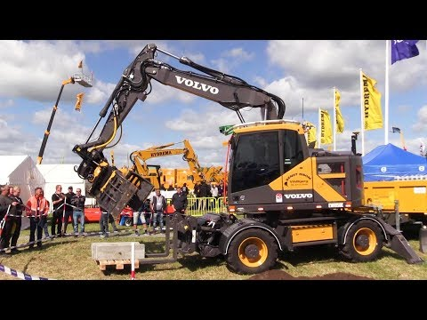 New Volvo EWR150E Wheel Excavator With Engcon EC219 Tiltrotator With EC Oil Demo E&H 18
