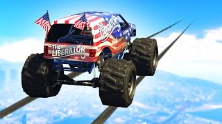 IMPOSSIBLE MONSTER TRUCK CHALLENGE! (GTA 5 Funny Moments)