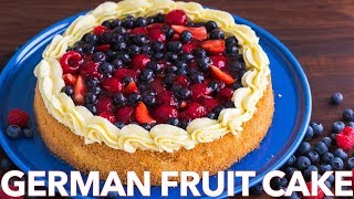 German Fruit Cake Recipe (Obsttorte)