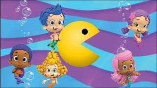 Bubble Guppies Learn Colors PacMan | Bubble Guppies Escaping under the ocean
