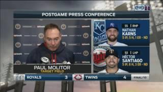 Paul Molitor credits bullpen in extra-inning win