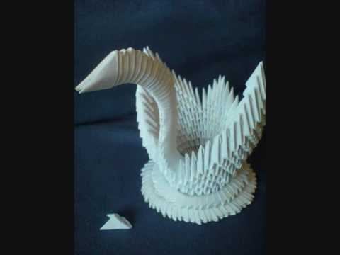 How to make a 3D Origami Swan Tutorial by KleinerChaotBerlin