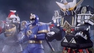 Ninjor and the Megazords vs Dischordia Fight (Shogun Ultrazord) | Mighty Morphin Power Rangers
