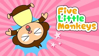 Five Little Monkeys Jumping on the bed #4 | Children Nursery Rhyme | Kids Songs | Baby Puff Puff