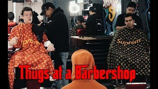 Thugs at a Barbershop   David Lopez