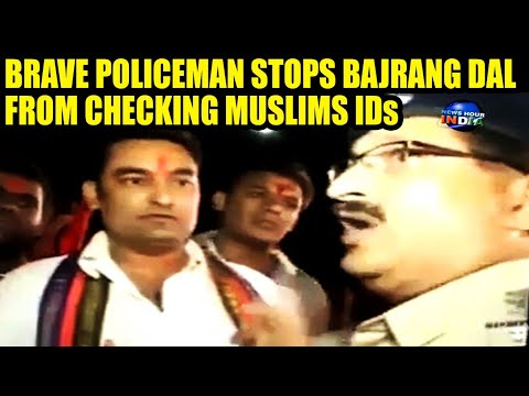 Xxx Mp4 Brave Policeman Stops Hindu Outfit From Checking Muslim IDs INDIA 3gp Sex