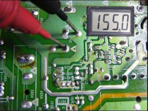Método para arreglar un televisor sin voltaje en +B