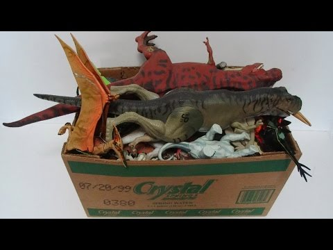 What s in the box Jurassic Park toys Dinosaurs Action Figures Vehicles