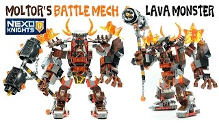 Nexo Knights Moltor's Battle Mech Lava Monster Unofficial LEGO Knockoff Set w/ Aaron Fox