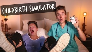 CHILDBIRTH SIMULATOR CHALLENGE ft. CONOR MAYNARD!