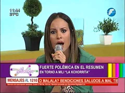 Polémica tras un enlace con Mili La Kchorrita ElResumen 27 05 2015.