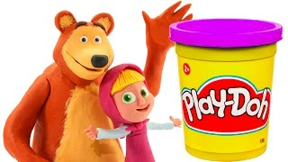 Masha and The Bear Stop Motion Videos Masha y El Oso Маша и Медведь игрушки Play Dough Toy Videos