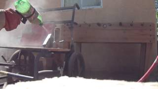 Home made quick and easy mini mountain Dew and Duck Tape sand blaster test.