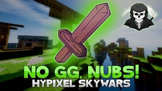 NO GG NUB S + KNOCKBACK ONLY CHALLENGE! ( Hypixel Skywars UNCUT )