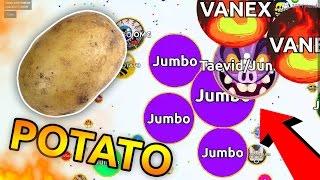 POTATO DESTROYING TEAMS LIVE !! ( Jumbo Teaming in Agar.io )