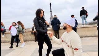 MARRIAGE PROPOSAL IN FRONT OF EIFFEL TOWER!!! (GONE WRONG)