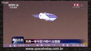 Lancamento do Long March 7 Com o Módulo Tianzhou-1 - Space Today Live