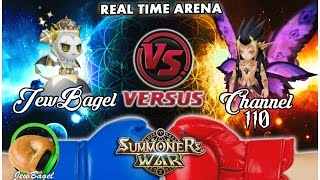 SUMMONERS WAR : JewBagel -VS- Channel 110 (Real-Time Arena)