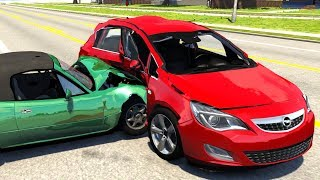 Extreme Side Impact Crashes #6 - BeamNG Drive
