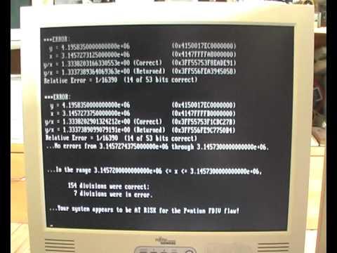 IBM PS/2 9595-B20 Model 95 XP 486 Pentium 60 Mhz Pentium-FDIV-Bug Test
