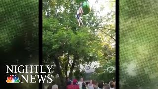 Six Flags: Dramatic Video Shows Teen Girl Hanging For Dear Life On Ride | NBC Nightly News
