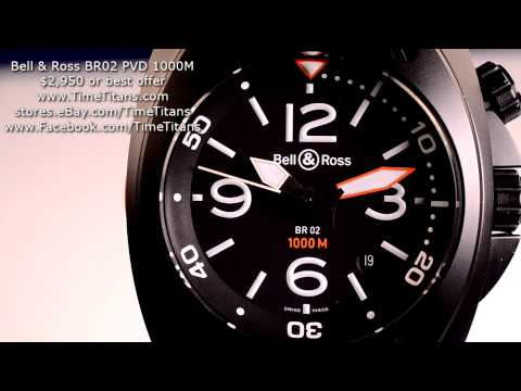 Bell & Ross BR02 1000M PVD Arabic Numeral Automatic Diver 44MM