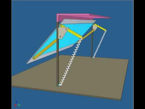 Simulación dinámica de un portón manual AB
