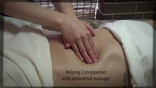 Helping constipation with abdominal massage, massage therapy techniques Full Compilation