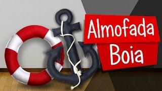 Diy Decoração Pinterest - Almofada Boia Navy