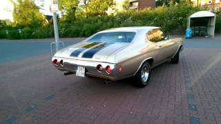 Beautiful 1971 Chevrolet Chevelle V8 with Crane Camshaft 292/300 idle