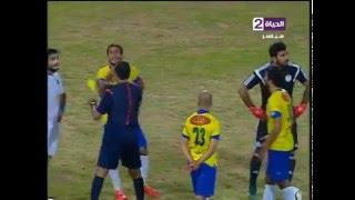 حكم المباراة يخرج 4 كروت صفراء في وقت واحد للاعبي الإسماعيلي وسموحة