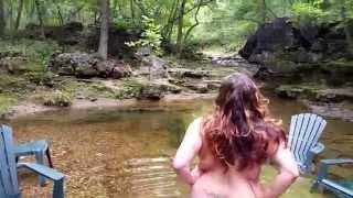 Nudist. Skinny Dipping