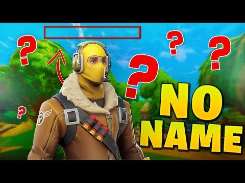 Playing Fortnite with NO NAME Fortnite Funny Moments