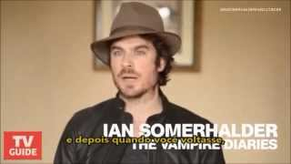 Ian Somerhalder talks Delena's 'moment of happiness' [Legendado]
