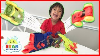NERF Challenge Blaster Car Toys for kids with Nerf Nitro Ryan ToysReview