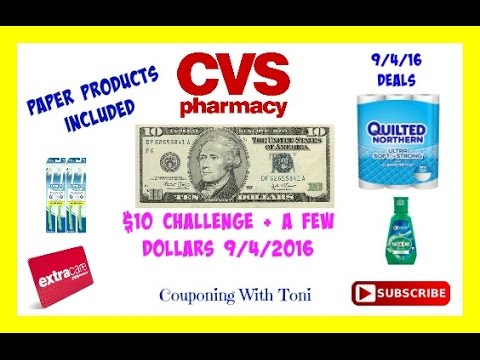 9/4/16 CVS $10+ Challenge Breakdown | Paper Products Included