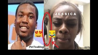 Meek Mill CLAPS Back at Jess Hilarious by making her his #WCW after getting BODIED by her lol 🐸☕️😫