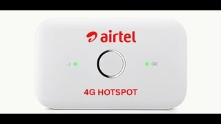 Airtel 4g hotspot : Unboxing and set up
