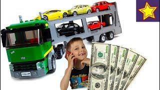 Машинки на Автовозе Везем машинки на продажу Kids cars toys video