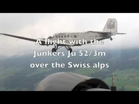 Junkers Ju 52/3m over the Swiss Alps.