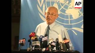 News conference by UN official Ian Martin