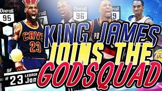 95 OVERALL LEBRON JAMES IS A GLITCH!! ALMOST DROPS 50 POINTS!!!! GOD SQUAD!! BEST TEAM ON MYTEAM!