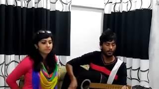 Aguner din sesh hobe ekdin, acoustic cover by 'juwelever with  Kavita Krishnamurthy