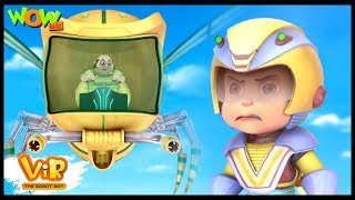 Giant Robot Bee Attack - Vir: The Robot Boy - Kid's animation cartoon series