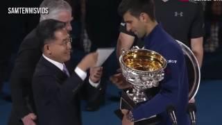 Australian Open 2016 Final Award Ceremony Novak Djokovic vs Andy Murray